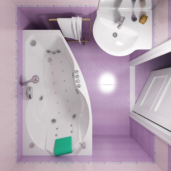 Акриловая ванна Triton Бриз (правая) 150x96